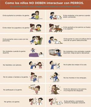 Cómo los niños no deben relacionarse con los perros
