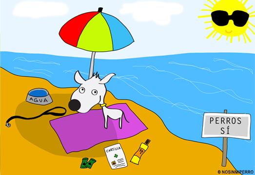 Playa con perro
